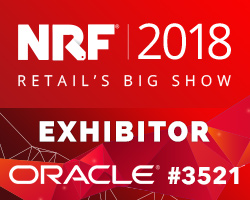 NRF 2018 Exhibitor - Oracle Booth #3521